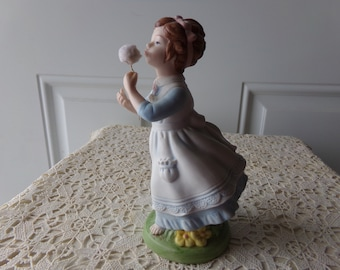 Avon Collectible - Wishful Thoughts Figurine, 1982, Hand-Painted Porcelain, Vintage, Excellent Condition, Limited Edition: 3OB - 120
