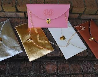 Monogrammed Envelope Clutch