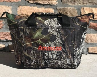 Personalized Embroidered Camo-Mossy Oak-Realtree-Pink Realtree Cooler Bag- Insulated tote