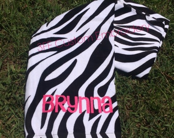 Personalized Velour Beach Towel  Name or Monogram included