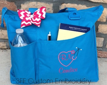 Personalized or Monogrammed NURSE or DOCTOR Super Tote
