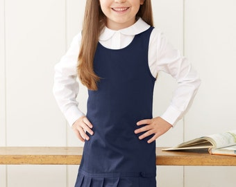 24d1e43a36 School Elementary Uniform French Toast - Girl s Twill Pleated Hem Jumper 2  Colors to Choose From