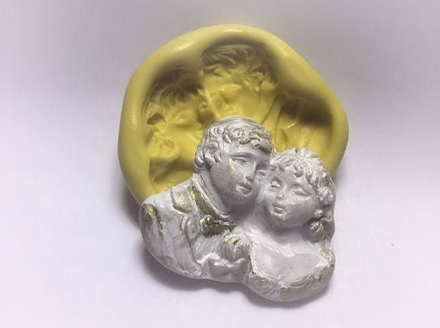 Wedding Husband and Wife  mold- flexible silicone push mold / craft/ chocolate /soap mold/ resin/jewelry and more...