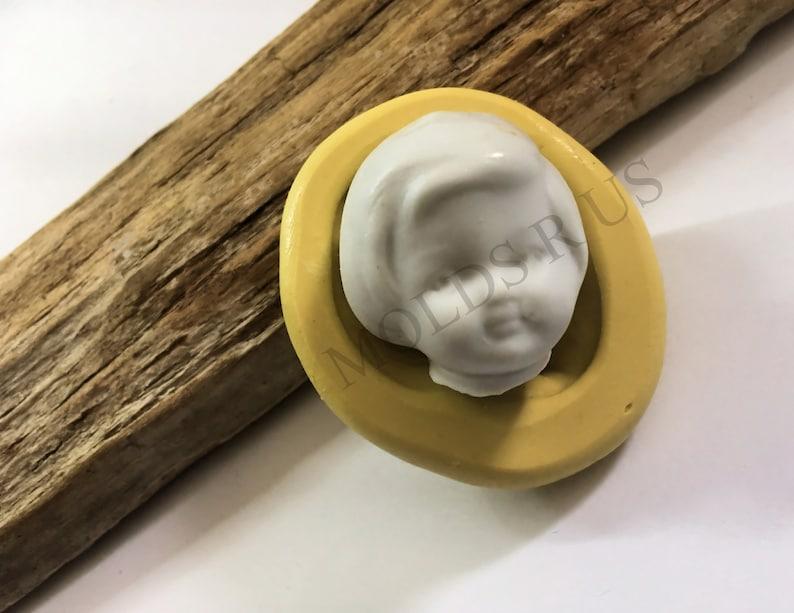Frozen charlotte face  flexible silicone mold fondant cake decoration