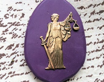Lady Justice flexible silicone mold
