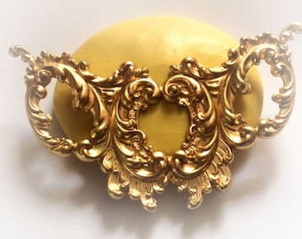 Large Victorian flourish deco mold - flexible silicone push mold / craft/ desser/ resin/jewelry and more...