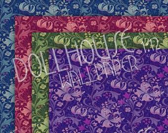 Dollhouse Wallpaper Pastels Spots Polka Dots Bedroom Decor Etsy