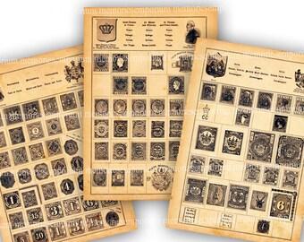 Antique stamp album | Etsy
