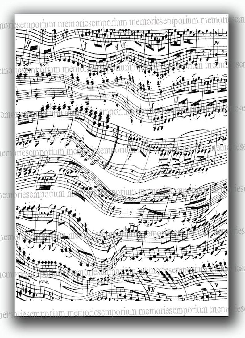 Note Di Spartiti Spartito Musicale In Bianco E Nero Musica Etsy