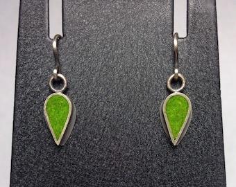 Tiny Tear Drop Earrings - Peas