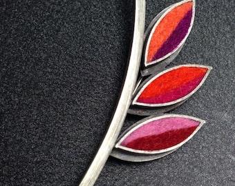 Lotus Flower Brooch 2- Hot Palette