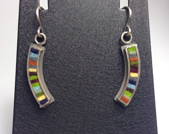 Extra Small Curved Earrings- Earth Tone Palette