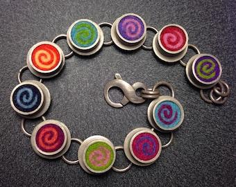 Spiral Bracelet- Multicolor