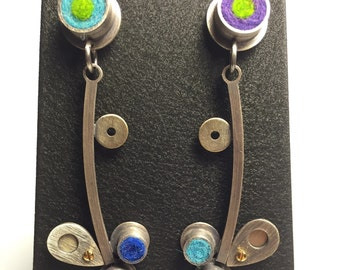 Splash Earrings- Cool Palette