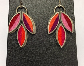 Lotus Flower Earrings- Hot Palette