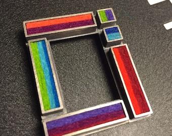 Mondrian Window Brooch/Pendant- Multicolor Palette