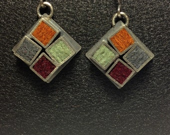 Kitchen Tile Earrings Neutral Four