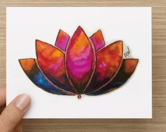 Lotus Note Cards 5.5x4