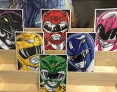 Mighty Morphin Power Rangers original rangers: set of 6