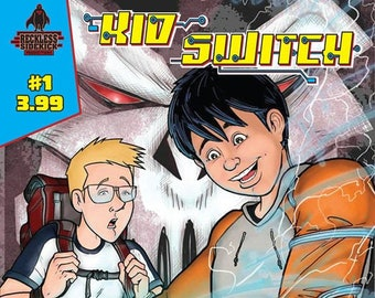 """Issue #1 of """"Kid Switch"""" a sci-fi adventure comic."""