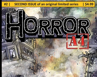 """Issue #2 of """"The Horror A4"""" my Independent Kaiju (giant monster) comic."""