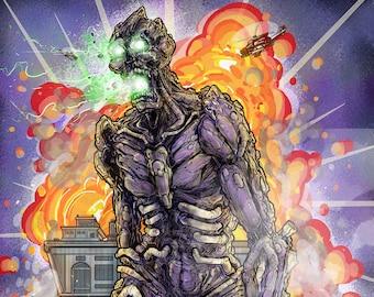 The Horror A4 Original Kaiju Art Print #1