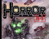 "Issue #1 of ""The Horror A4"" my Independent Kaiju (giant monster) comic."
