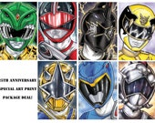 Power Rangers 25th Anniversary set of 11 prints.
