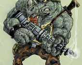 Rocksteady the Rhino henchman from Teenage Mutant Ninja Turtles