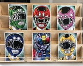 Power Rangers Turbo AKA Carranger  : set of 6