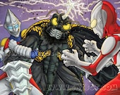 Jet Jaguar and Ultraman vs. Megalon