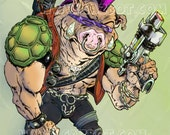 Bebop the punk warthog henchman from Teenage Mutant Ninja Turtles