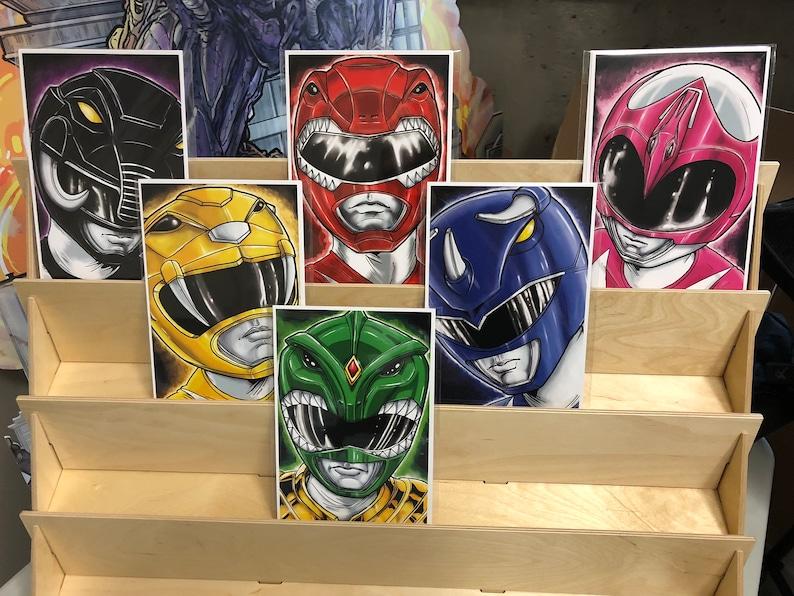 Mighty Morphin Power Rangers of original rangers: set of 6 image 0