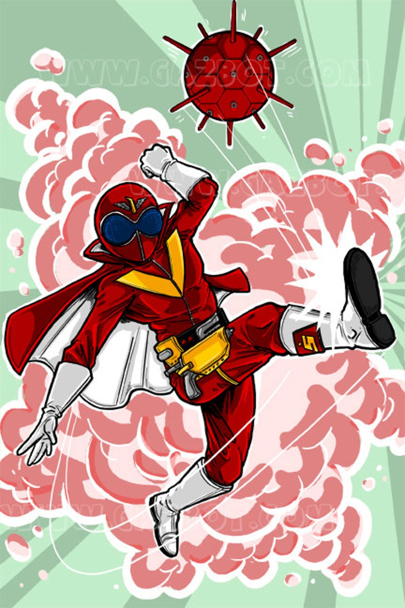 Super Sentai Gorangers : Aka Ranger image 0