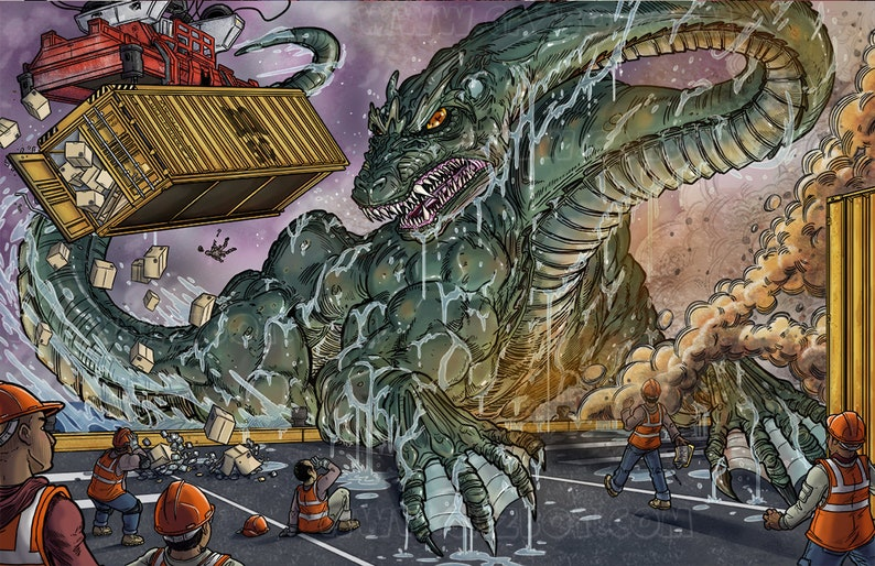 Kaiju Nessie: my take on the Lost Toho version of the Loch image 1