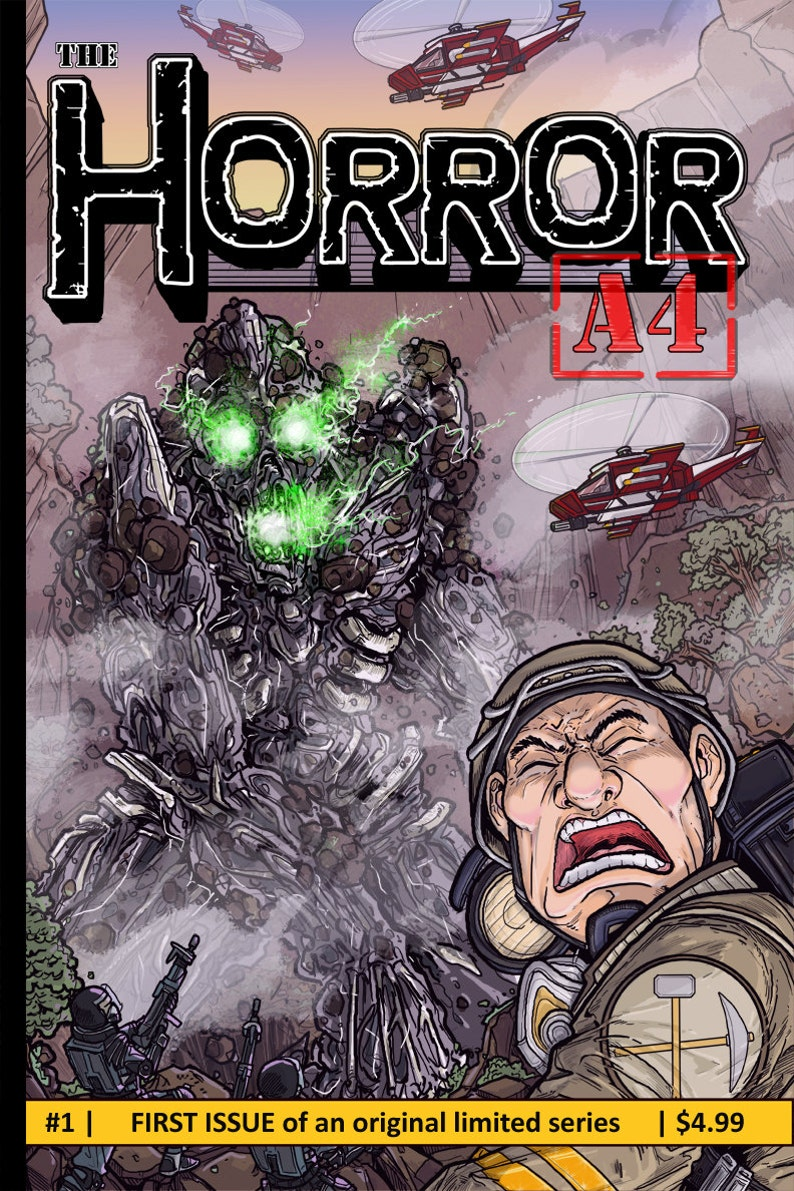 Issue 1 of The Horror A4 my Independent Kaiju image 0
