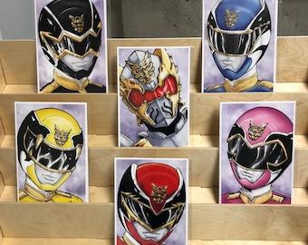 Power Rangers Megaforce AKA Goseiger : set of 6