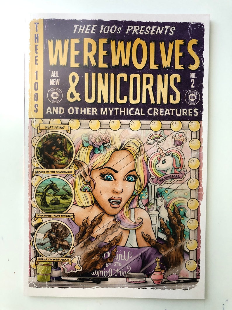Thee 100s : Werewolves and Unicorns a Comic Anthology  Book image 0