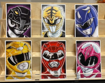 Mighty Morphin Power Rangers (white rangers ver): set of 6