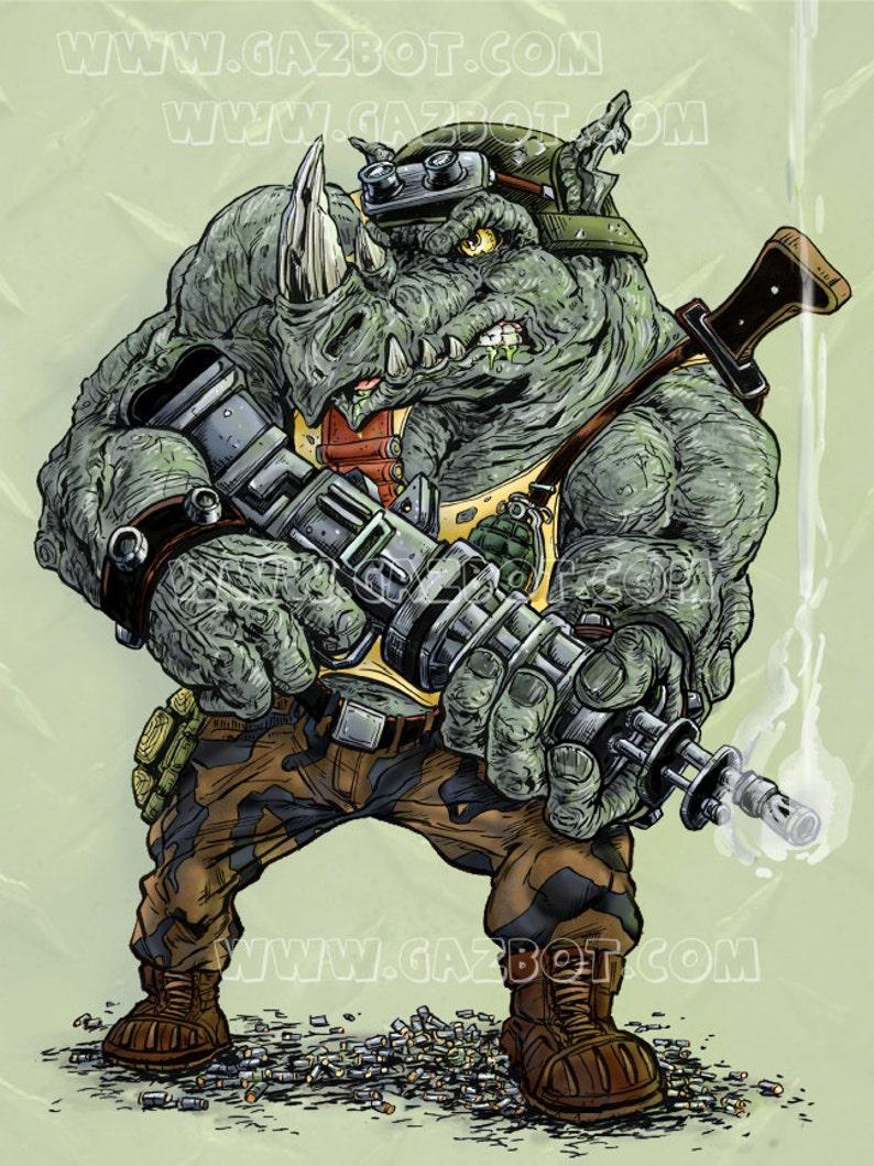 Rocksteady the Rhino henchman from Teenage Mutant Ninja image 1