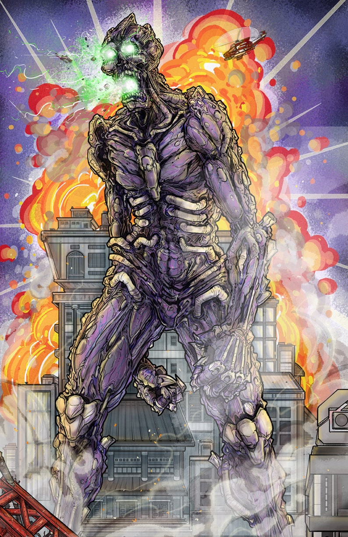 The Horror A4 Original Kaiju Art Print 1 image 0