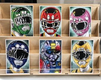 Power Rangers Turbo AKA Carranger  : set of 6