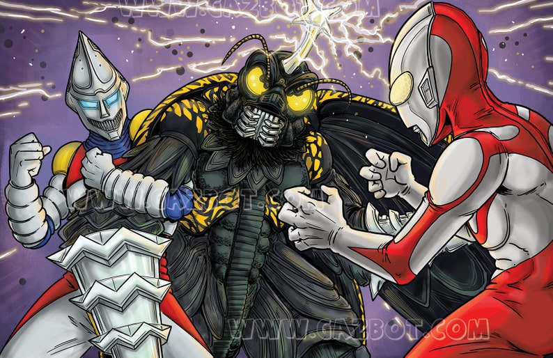 Jet Jaguar and Ultraman vs. Megalon image 0