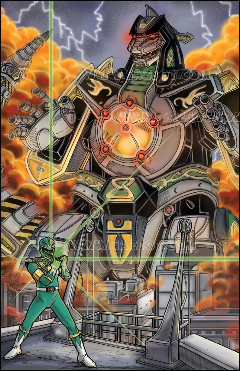 The Green Power Ranger : Tommy Oliver summoning his image 0