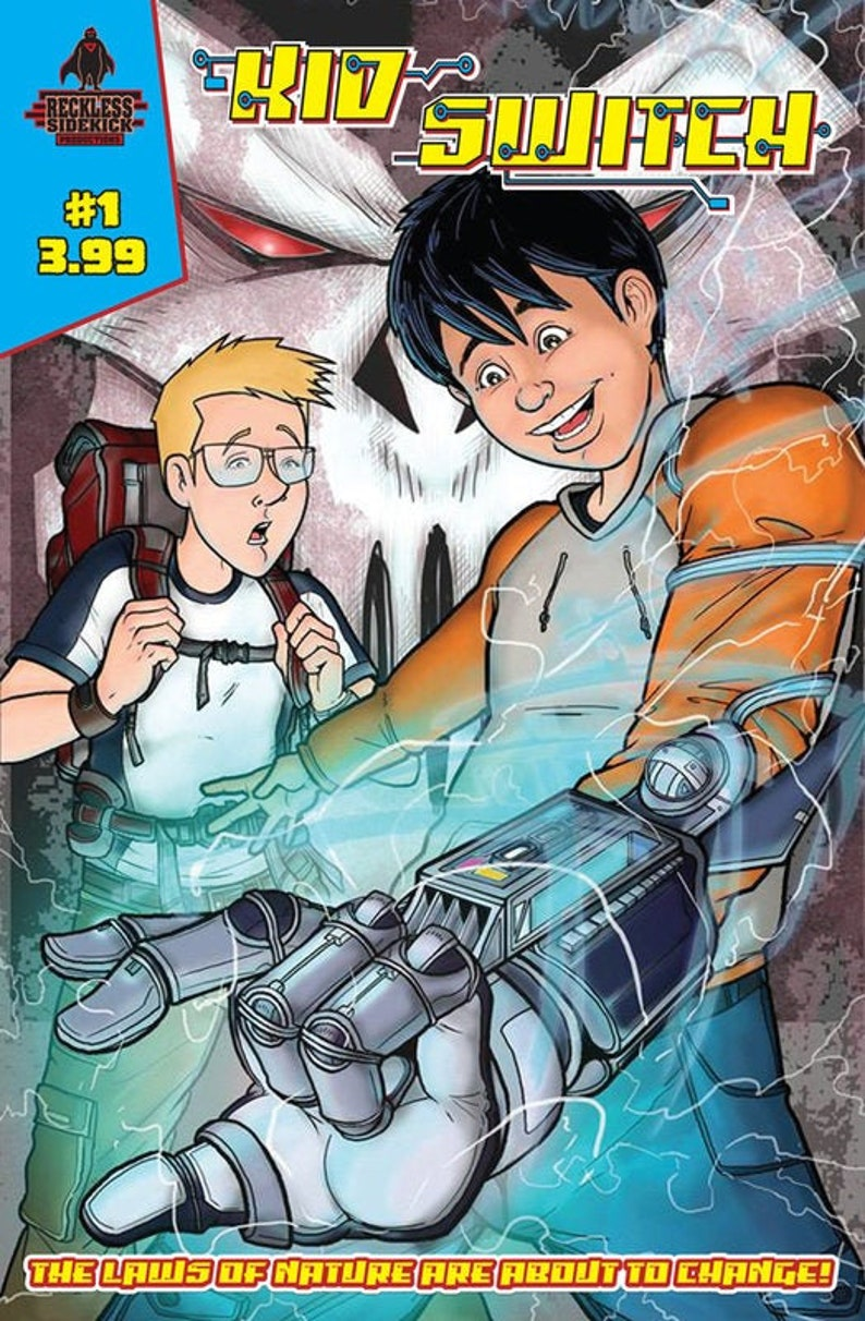 Issue 1 of Kid Switch a sci-fi adventure comic. image 0