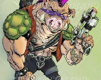 Bebop the punk warthog henchman from Teenage Mutant Ninja Turtles