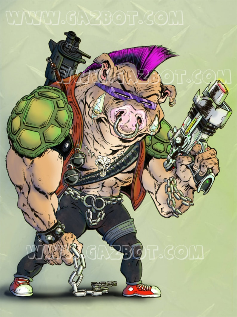 Bebop the punk warthog henchman from Teenage Mutant Ninja image 0