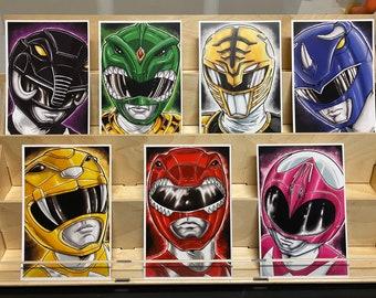 Mighty Morphin Power Rangers of original rangers: set of 7