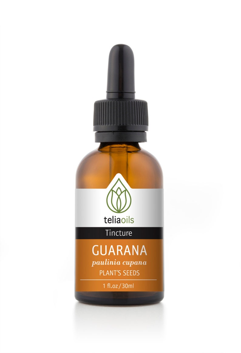 Organic Guarana Tincture, Liquid Extract, (Paulinia cupana) 1 fl  Oz / 30  Ml - Top Quality, maximum Strength