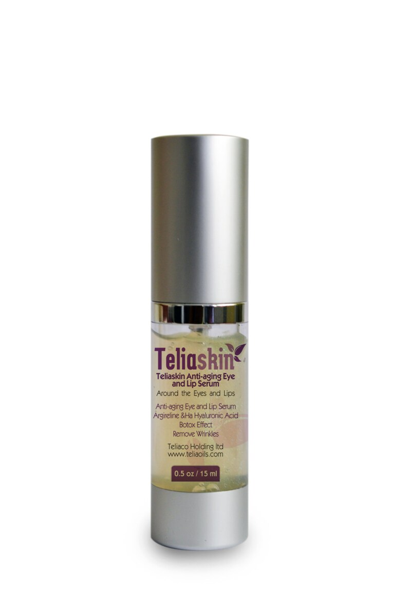BOTOX EFFECT - Teliaskin Anti-aging Serum - Argireline & Hyaluronic Acid -  Remove Wrinkles, Fineline, around the Eyes, Mouth, skin Firming